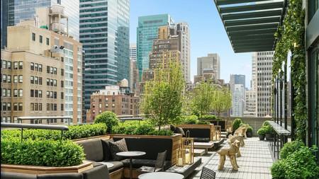 You'll catch views of Manhattan's skyline from Marriott's AC Hotel