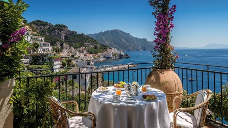 Soak up Italy's stunning views during breakfast on a road trip around the Amalfi Coast