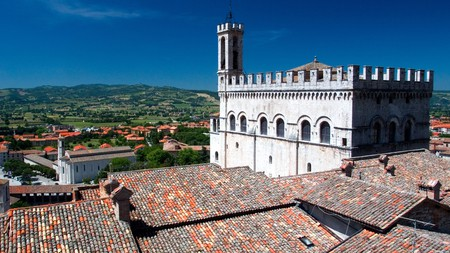 Enjoy the views of the Palazzo dei Consoli from the main square in Gubbio