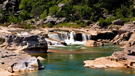 Go for a swim at the Pedernales Falls State Park in Texas