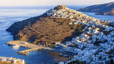 The Castle of Astypalaia sits atop a hill, providing stunning panoramic views