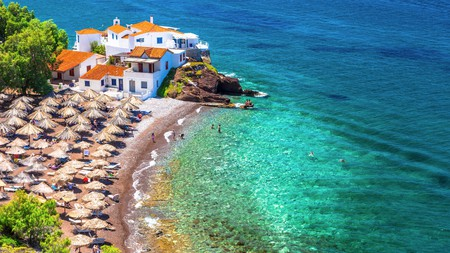 Savour the Aegean Sea from a beach in Hydra