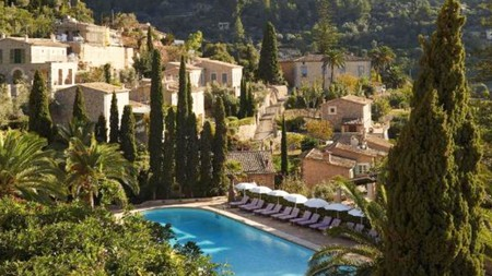 The terrace at Belmond La Residencia, set among olive and citrus trees, is one of the most romantic spots on Mallorca