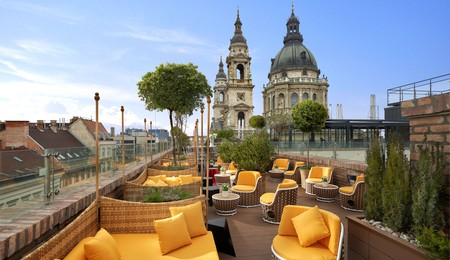 Stay at the Aria Hotel and take in the sights of beautiful Budapest from its rooftop terrace