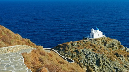The Church of Seven Martyrs is one of the most picturesque landmarks in SIfnos