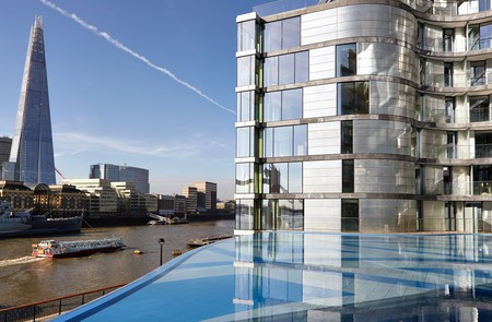 Cheval Three Quays offers sweeping views of the Thames and the soaring figure of The Shard beyond