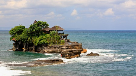 Tanah Lot is only accessible at low tide