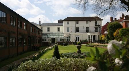 Rooms at the Winchester Royal Hotel face a calming garden