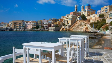 Beautiful Syros is quieter than its neighbouring islands but there's still many places to enjoy fantastic food