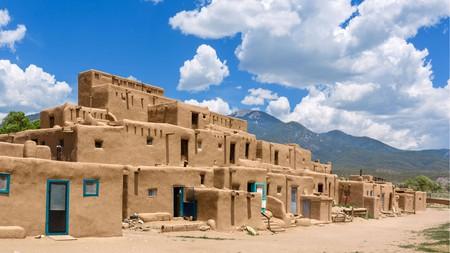 Visit Native American dwellings in historic Taos Pueblo, New Mexico