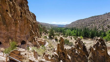 Discover ancestral Pueblo archeological sites surrounded by a magnificent landscape at Bandelier National Monument