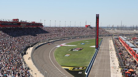 Watch the races at the Auto Club Speedway in California