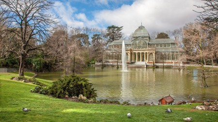Buen Retiro Park is one of the largest parks in Madrid, and its Glass Palace is a highlight