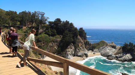 McWay Falls at Julia Pfeiffer Burns State Park is an unmissable stop along the Big Sur coastline