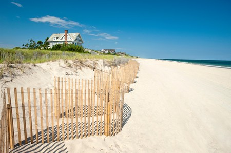 Sink your toes into the white sand at Amagansett Beach on Long Island, New York
