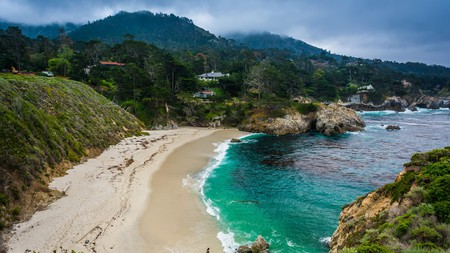 Enjoy views of Gibson Beach from Cali's Point Lobos State Natural Reserve and take a late afternoon dip in the ocean as the sun goes down