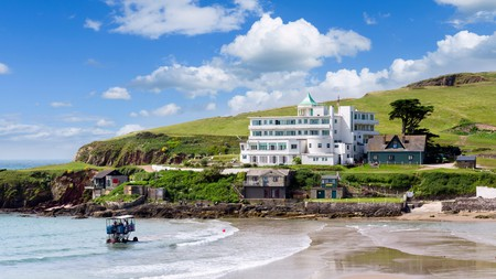 Rub shoulders with celebrities in a stay at Burgh Island's famous hotel before an afternoon spent enjoying a classic Devonshire cream tea
