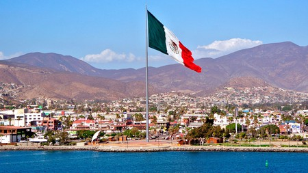 You can't miss the enormous Mexican flag by the marina in Ensenada