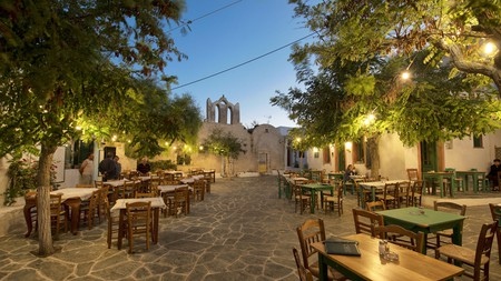 Chora is the charming main town on the island of Folegandros