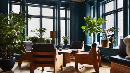 Enjoy the stylish interiors of the Freehand Hotel before heading outdoors to walk the High Line