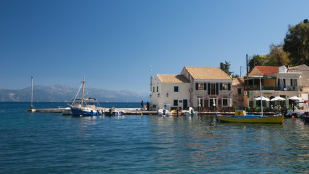Head to the pretty harbourside village of Loggos in Paxos for drinks on the waterfront