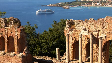 The Teatro Antico of Taormina remains a top tourist site in the town, not least for the sweeping views it affords