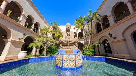 The 'Woman of Tehuantepec Fountain' is one of many historical stop-offs to visit in Balboa Park