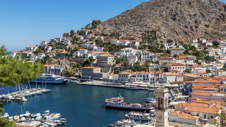 A two-hour ferry ride from Athens, Hydra is a car-free island with charming narrow alleyways and stone mansions