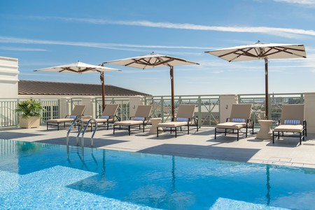 After exploring the South Carolina Aquarium, hit the water at the Hotel Bennett's rooftop pool