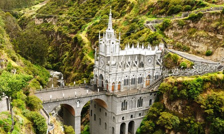 Visit the historic Las Lajas to witness its ornate detailing on a tour of Colombia's most beautiful architecture