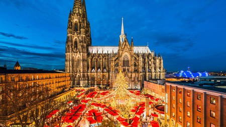 The Cologne Cathedral Christmas Market is the largest festive market in the city
