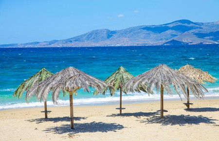 Plaka beach, on the west side of Naxos, is one of the island's big hitters