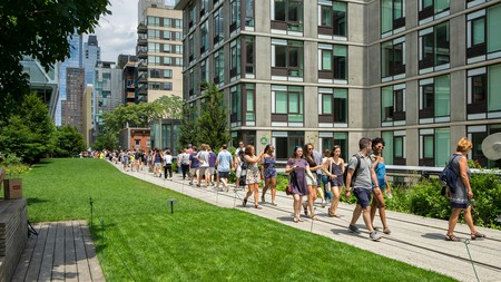 The elevated High Line walk is a great place to people-watch