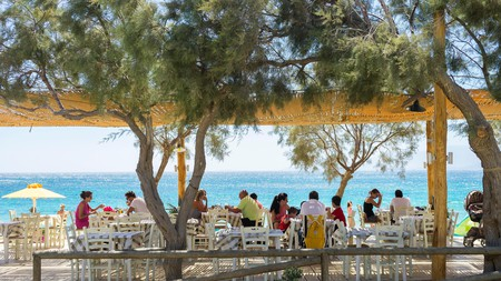 Eating on the seafront is a rite of passage for all visitors to Naxos