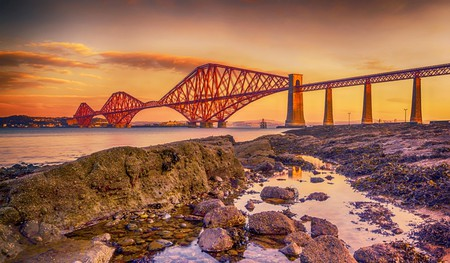 The Forth Bridge in Scotland is a beautiful cantilever bridge dating back to 1890