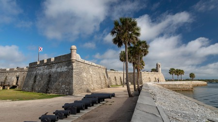 Castillo de San Marcos in St Augustine, Florida, is the oldest fort in the US