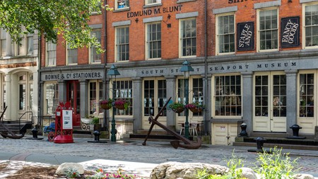Visit the South Street Seaport Museum to learn about New York's historic shipping past