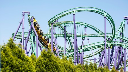Get an adrenaline rush at Six Flags America in Maryland