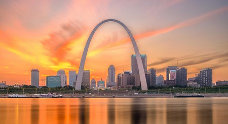 The Gateway Arch is the most recognizable landmark in St Louis, Missouri