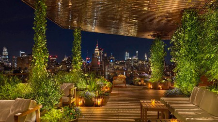 Spend some time wooing your date at the rooftop bar at Public