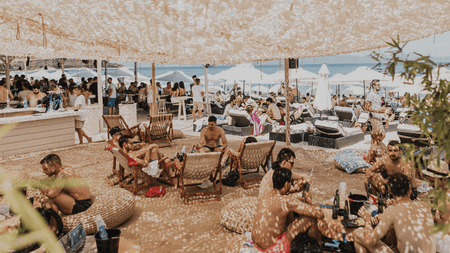 Cabana is the place for a piña colada on Paliouri