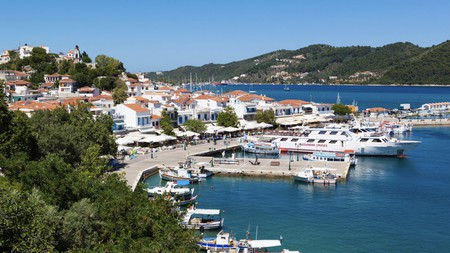 You can't miss the picturesque views of Skiathos Harbour on a trip to this Greek island