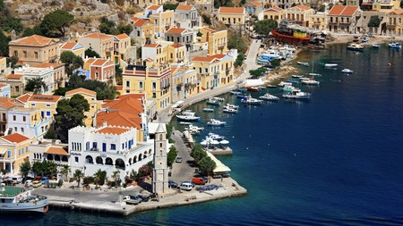 The tiny Dodecanese island of Symi is a stunner, with pastel-coloured villages and beaches aplenty