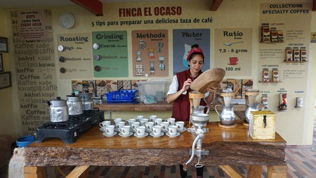 Enjoy a guided coffee tour in the heart of the Coffee Triangle in one of the most beautiful regions of Colombia