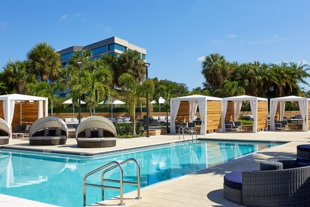 Grab a poolside cabana at the Godfrey on your next trip to Tampa