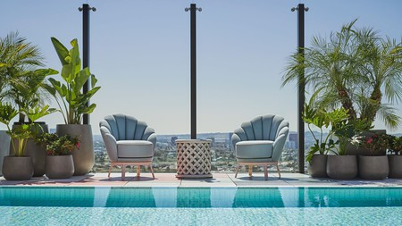 Work on your tan while swimming and taking in panoramas of LA at the Pendry West Hollywood