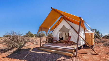 You can camp and have luxurious amenities at Under Canvas Grand Canyon