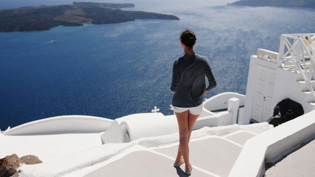 The Greek island of Santorini remains one of Europe's most popular holiday destinations