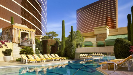 Enjoy five-star luxury at the Wynn with its relaxing pools and 18-hole golf course