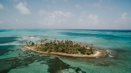 Colombia's cluster of Caribbean islands are surrounded by clear turquoise waters